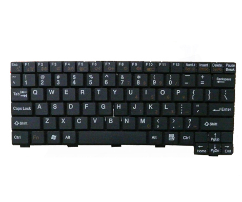 NEW Fujitsu lifebook p1610 p1620 p1510 US Keyboard Black