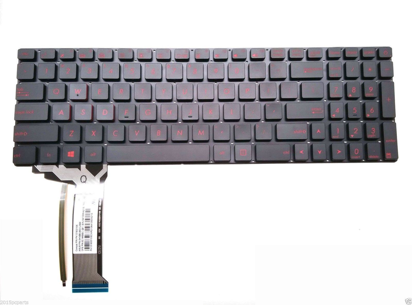 US keyboard for Asus ROG GL752VW-DH71
